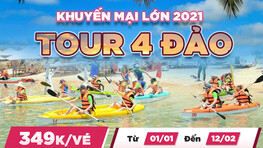✅Tour 4 đảo [HOT 2021]