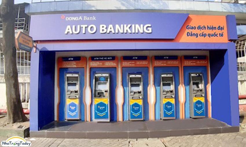 hệ thống atm ngân hàng đông á nha trang
