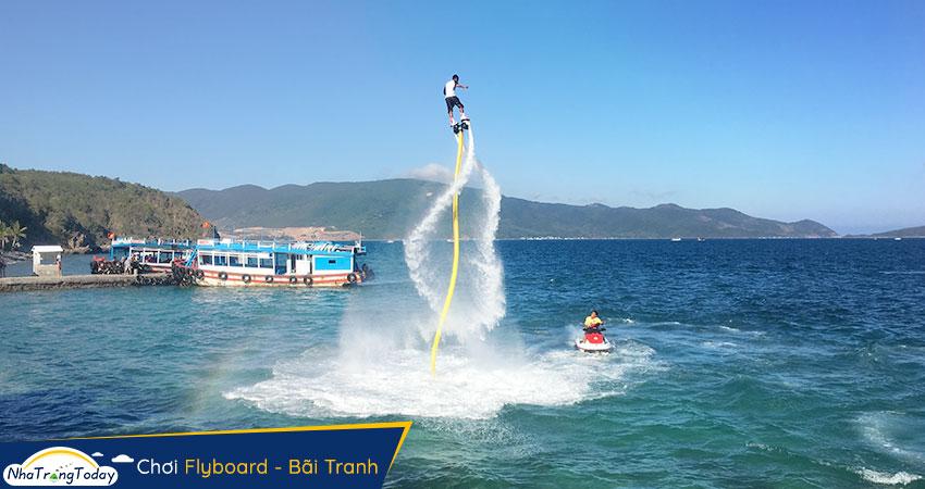 Chơi Flyboard tại Bãi Tranh Nha Trang