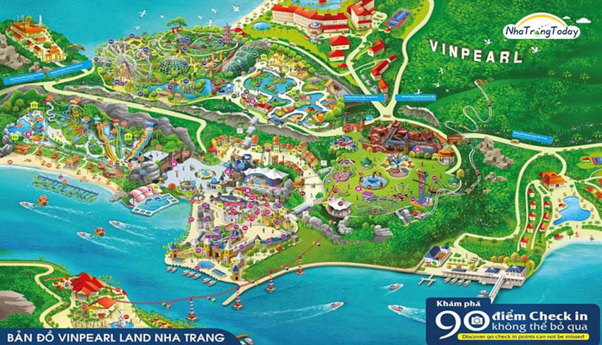 bản đồ Vinpearl Nha Trang