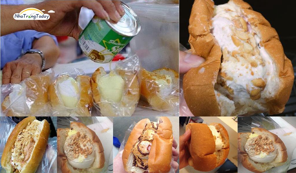 Bánh mì kẹp kem Nha Trang