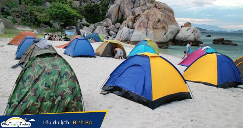 Cắm trại lều du lịch Bình Ba