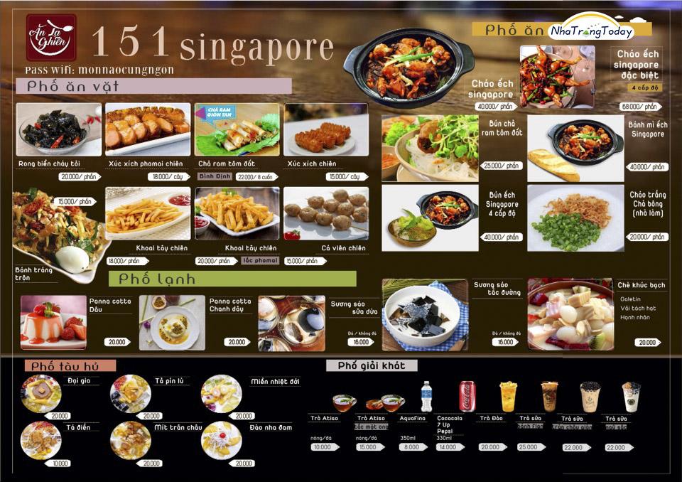 cháo ếch singapore Nha Trang