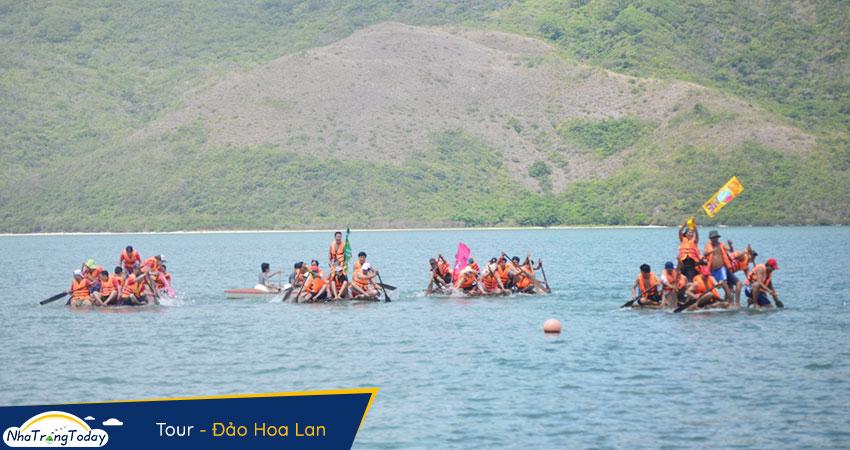 Chơi Team building trên đảo hoa lan