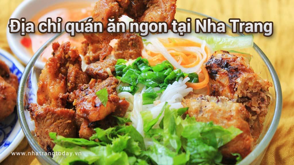 Địa chỉ quán ăn ngon ở Nha Trang