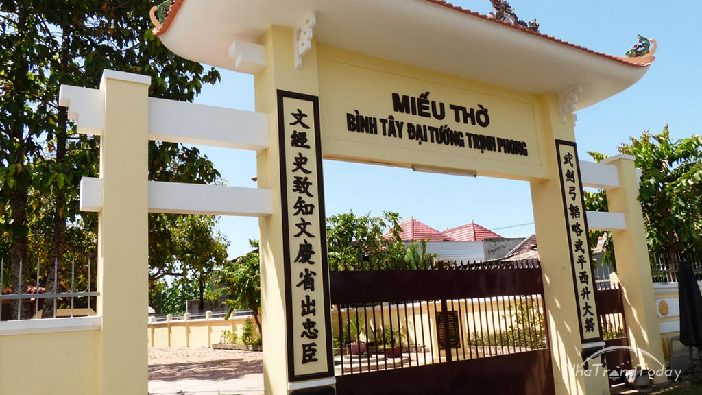 miếu thờ trịnh phong Nha Trang