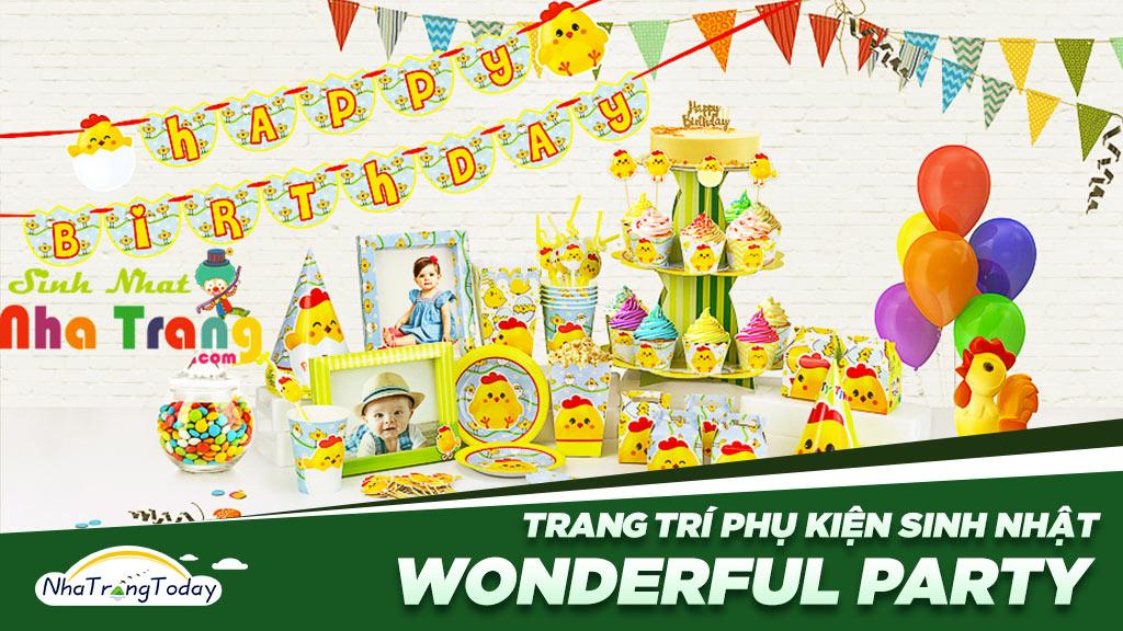 Wonderful Party - Phụ kiện Trang Trí Sinh Nhật Thôi Nôi Nha Trang