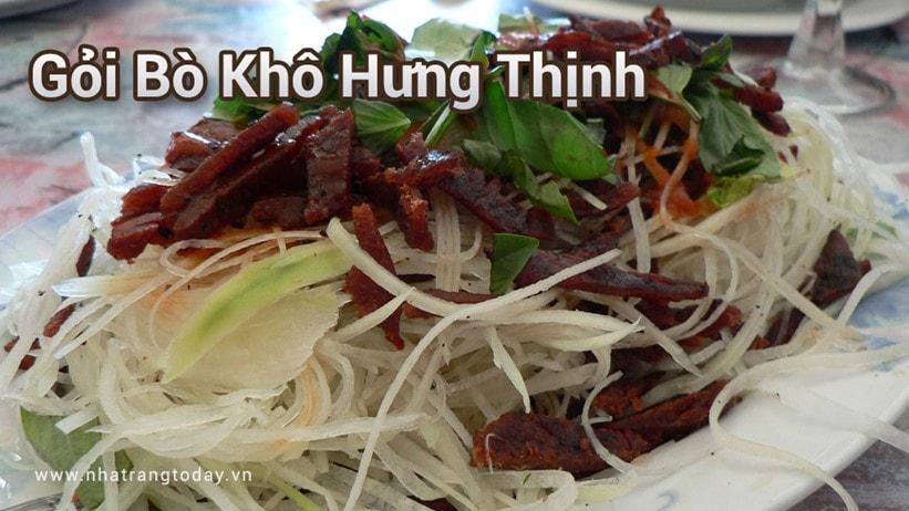 Gỏi bò khô Hưng Thịnh Nha Trang