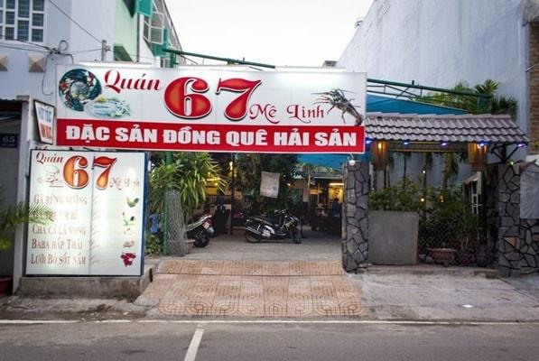 Quán nhậu bình dân 67 Mê Linh