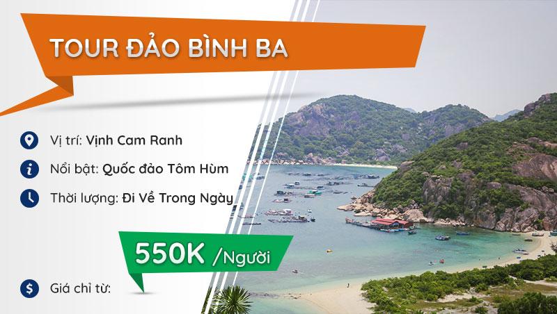 tour đảo Bình Ba Cam Ranh