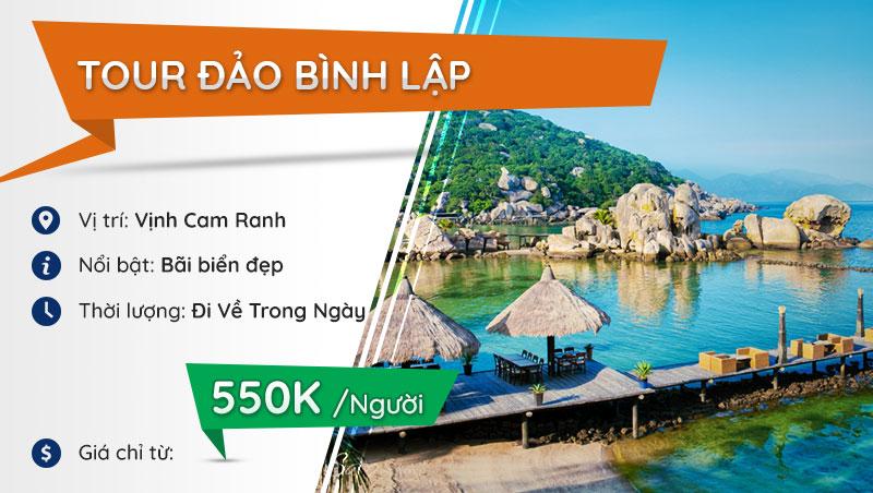 tour đảo Bình Lập Cam Ranh