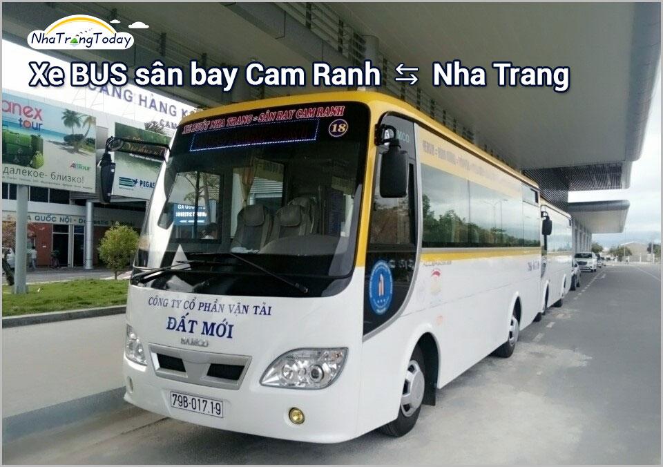xe bus đi sân bay cam ranh <-> Nha Trang