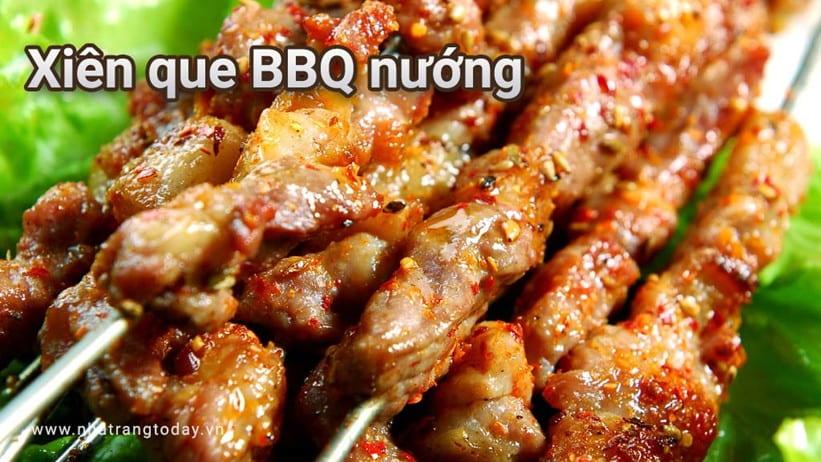 Xiên que BBQ nướng Nha Trang